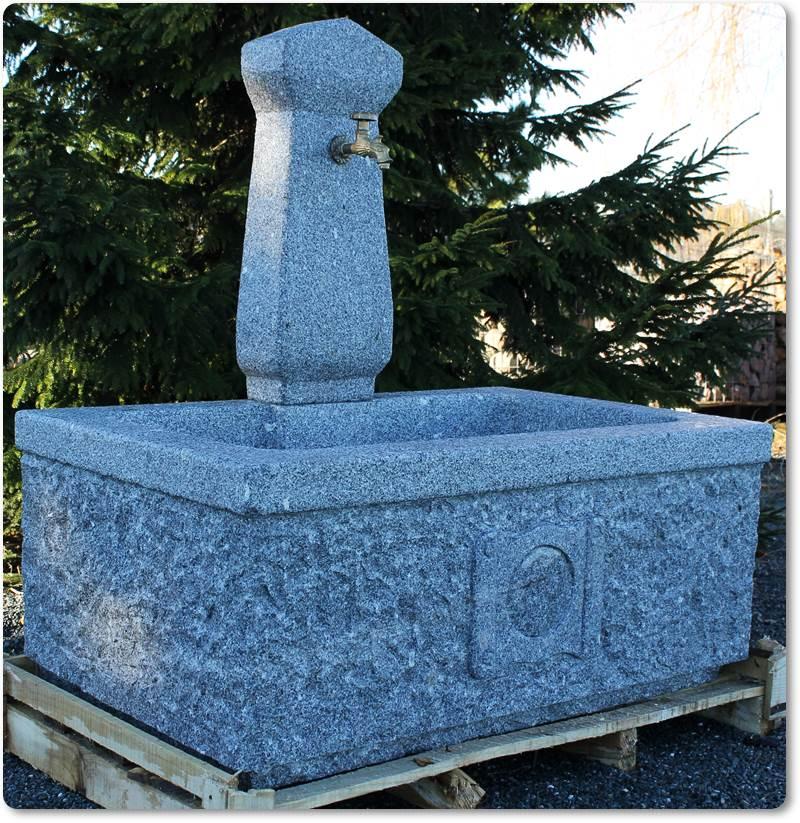 rechteckiger granitbrunnen f r den garten gartenbrunnen rechteckig. Black Bedroom Furniture Sets. Home Design Ideas